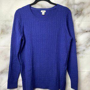 L.L. Bean women's cable sweater
